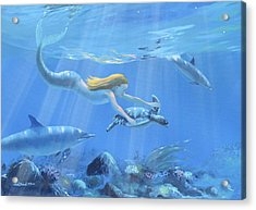 Mermaid Fantasy Acrylic Print