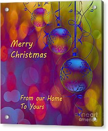 Merry Christmas Acrylic Print by Beverly Guilliams