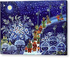Merry Christmas Acrylic Print by Marfa Tymchenko