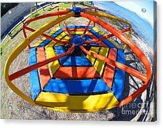 Merry-go-round In Children Playground Acrylic Print by George Atsametakis