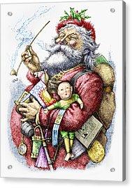 Merry Old Santa Claus Acrylic Print by Thomas Nast
