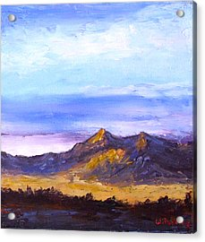 Acrylic Print featuring the painting Mesa Sunset by Fred Wilson