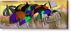 Metro Rains Acrylic Print by Tony Marquez