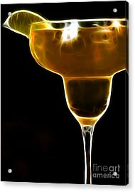 Mexico Gold . Lime Margarita Acrylic Print by Wingsdomain Art and Photography