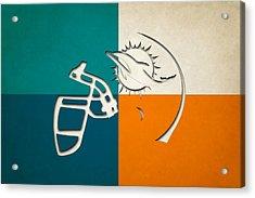 Miami Dolphins Helmet Acrylic Print