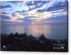 Miami Sunrise Acrylic Print by Pravine Chester