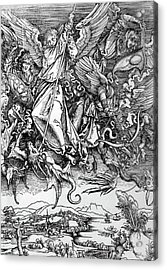 Michael Defeats Satan Acrylic Print