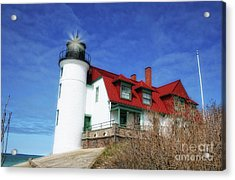 Acrylic Print featuring the photograph Michigan Lighthouse by Gina Cormier