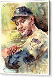 Mickey Mantle Portrait Acrylic Print