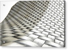Micro Fabric Weave Comparison Acrylic Print by Allan Swart