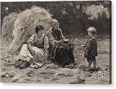 Midday Rest Acrylic Print by Frederick Morgan