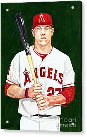 Mike Trout Acrylic Print by Dave Olsen