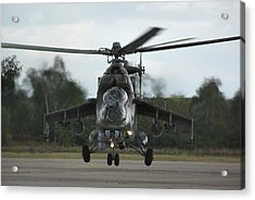Acrylic Print featuring the photograph Mil Mi-24v Hind E by Tim Beach