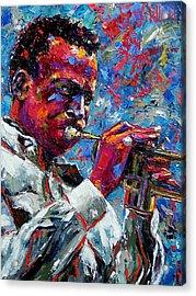 Miles Davis Acrylic Print by Debra Hurd