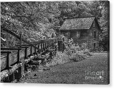 Acrylic Print featuring the photograph Mingus Mill 3 Mingus Creek Great Smoky Mountains Art by Reid Callaway