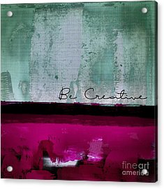 Minima - Be Creative 01b- Bo Acrylic Print by Variance Collections