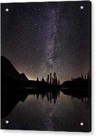 Mirror Lake Milky Way Acrylic Print