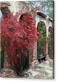 Mission Arches Acrylic Print by Brenda Williams