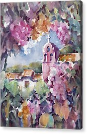 Mission Vineyard Acrylic Print