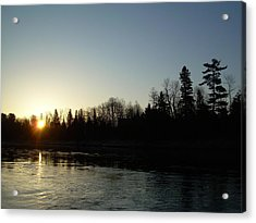 Acrylic Print featuring the photograph Mississippi River Sunrise Reflection by Kent Lorentzen