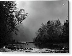 Acrylic Print featuring the photograph Mist On The River by James Barber