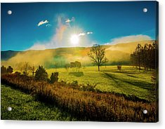 Acrylic Print featuring the photograph Mist Rising by Steven Ainsworth