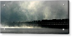 Misty Crossing Acrylic Print by Marie-Dominique Verdier