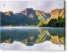 Acrylic Print featuring the photograph Misty Dawn Lake by Ian Mitchell