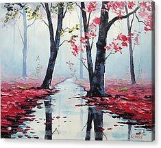 Misty Pink Acrylic Print