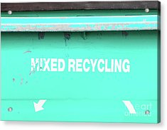 Mixed Recycling Bin Acrylic Print