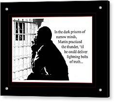 Mlk In Jail Acrylic Print by Richard Gordon