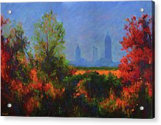 Mobile Skyline From Felix's Acrylic Print by Vernon Reinike