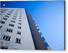 Acrylic Print featuring the photograph Modern Apartment Block by John Williams