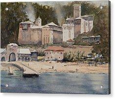 Monastery Agionoros Mount Athos Greece Acrylic Print