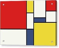 Mondrian Inspired Acrylic Print