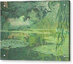 Monet's Lament Acrylic Print by Harvey Rogosin
