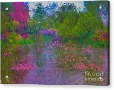 Acrylic Print featuring the mixed media Monet's Lily Pond by Jim  Hatch