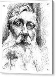 Monsieur Rodin Acrylic Print by James Simon