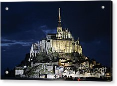 Mont St. Michel At Night Acrylic Print by Joshua Francia