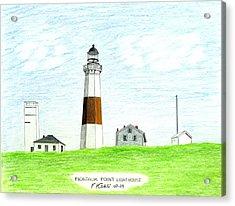 Montauk Point Lighthouse Acrylic Print by Frederic Kohli