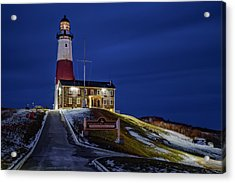 Acrylic Print featuring the photograph Montauk Point Lighthouse by Susan Candelario