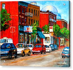Montreal Paintings Acrylic Print by Carole Spandau
