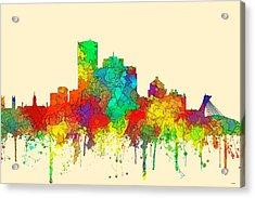 Montreal Que.skyline Acrylic Print by Marlene Watson