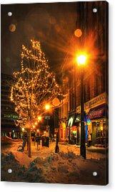 Monument Square - Portland Maine Acrylic Print by Joann Vitali