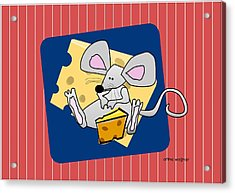 Moochie Loves Cheese Acrylic Print by Arline Wagner