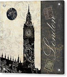 Moon Over London Acrylic Print