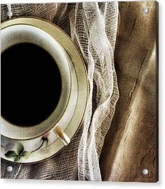 Acrylic Print featuring the photograph Morning Coffee by Bonnie Bruno