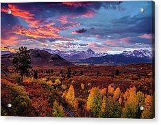 Morning Drama In The Colorado Rockies Acrylic Print