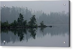 Morning Fog Over Cranberry Lake Acrylic Print