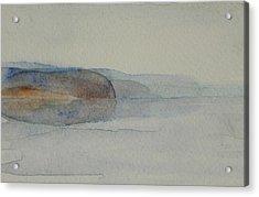 Morning Haze In The Swedish Archipelago On The Westcoast. Up To 36 X 23 Cm Acrylic Print